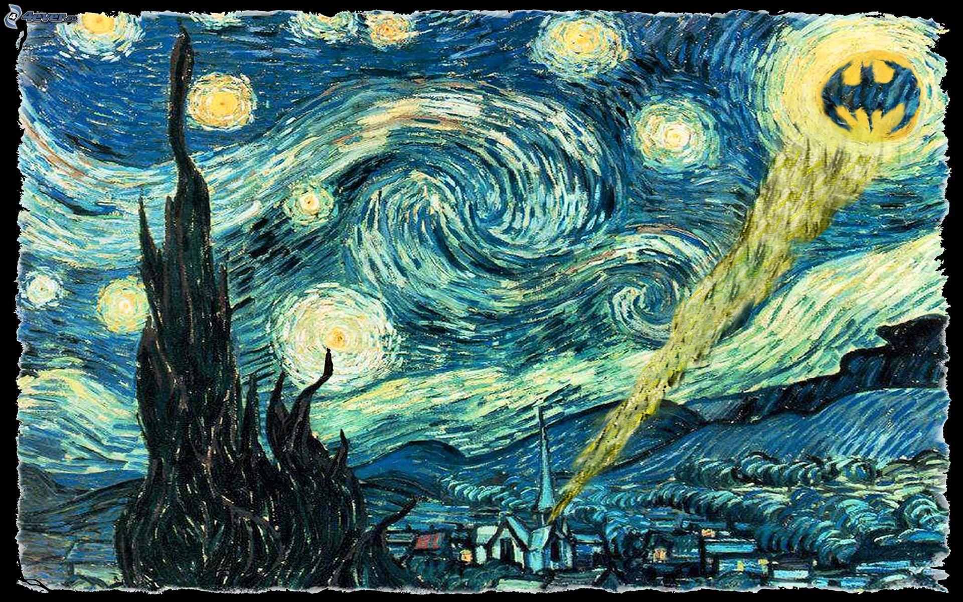Batman Van Gogh Wallpaper - WallpaperSafari