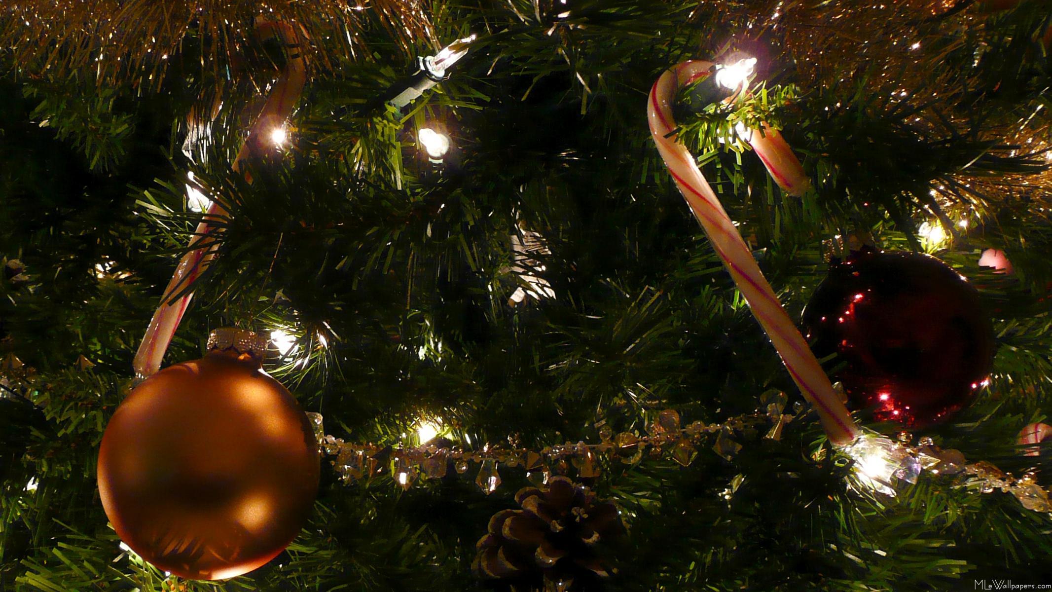 фотообои на рабочий стол новогодние про елку