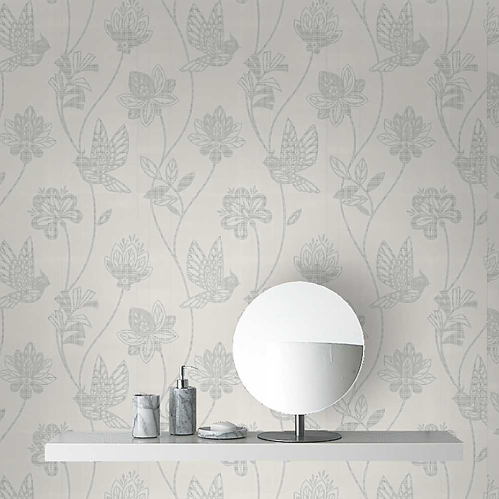 Graham Brown Elegance Wallpaper   Silver Wallpaper House 1000x1000