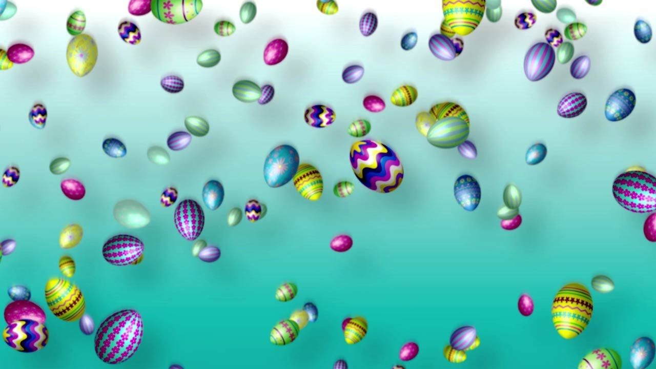 Easter Background   Falling Easter Eggs 1280x720