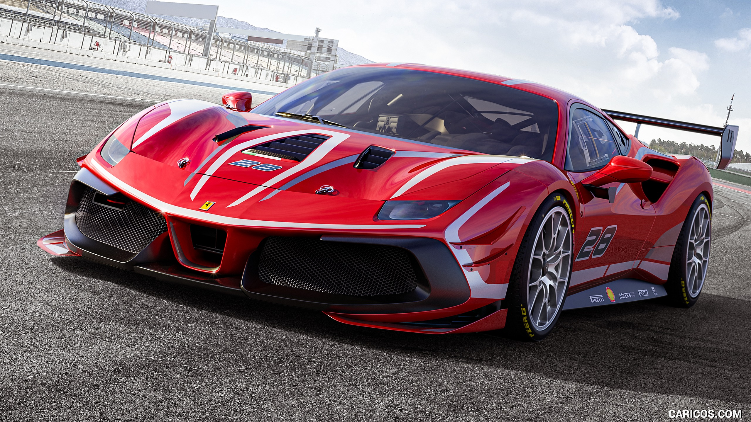 2020 Ferrari 488 Challenge Evo   Front Three Quarter HD Wallpaper 1 2560x1440