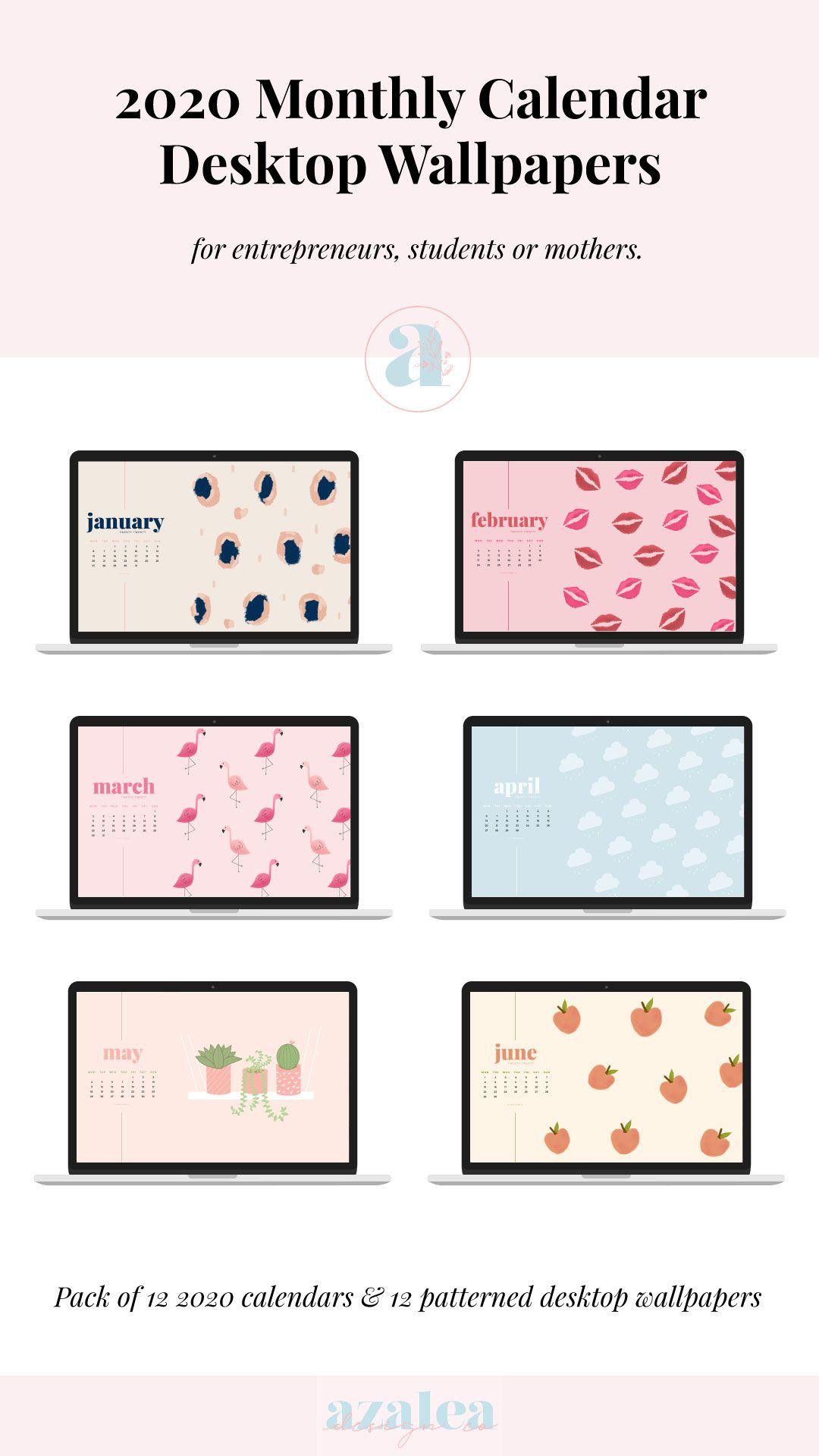 2021 Monthly Desktop Calendars Desktop Wallpaper Instant 1080x1920