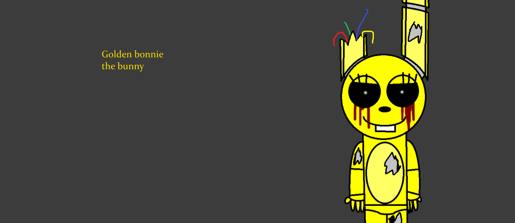 Golden Bonnie The Bunny Wallpaper by SCPBronydude 1024x443
