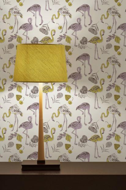 Flamingo Feathers Wallpaper Panels DigetexHOMEcouk 4000 412x620