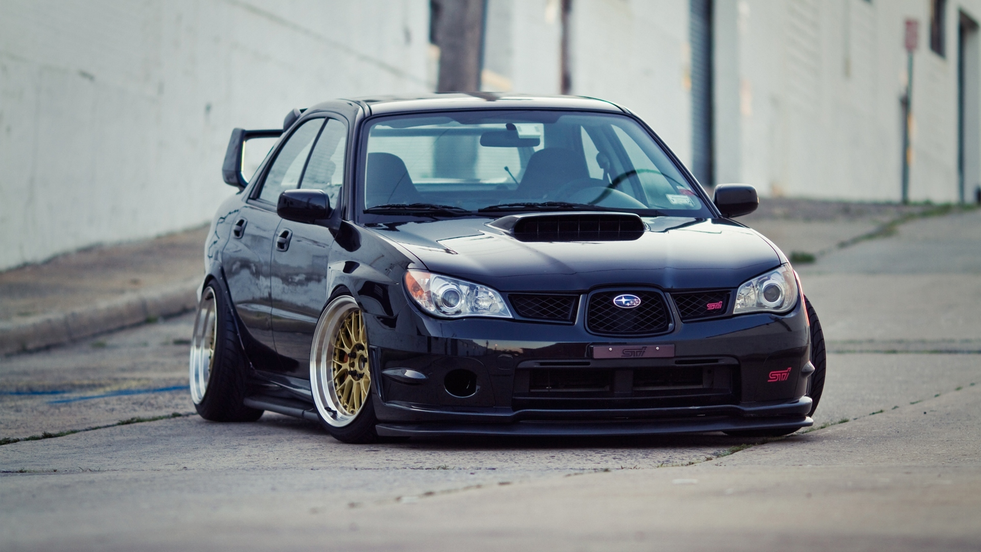 Subaru Impreza STI Slammed Low Japan Car Tuning wallpaper 1920x1080 1920x1080
