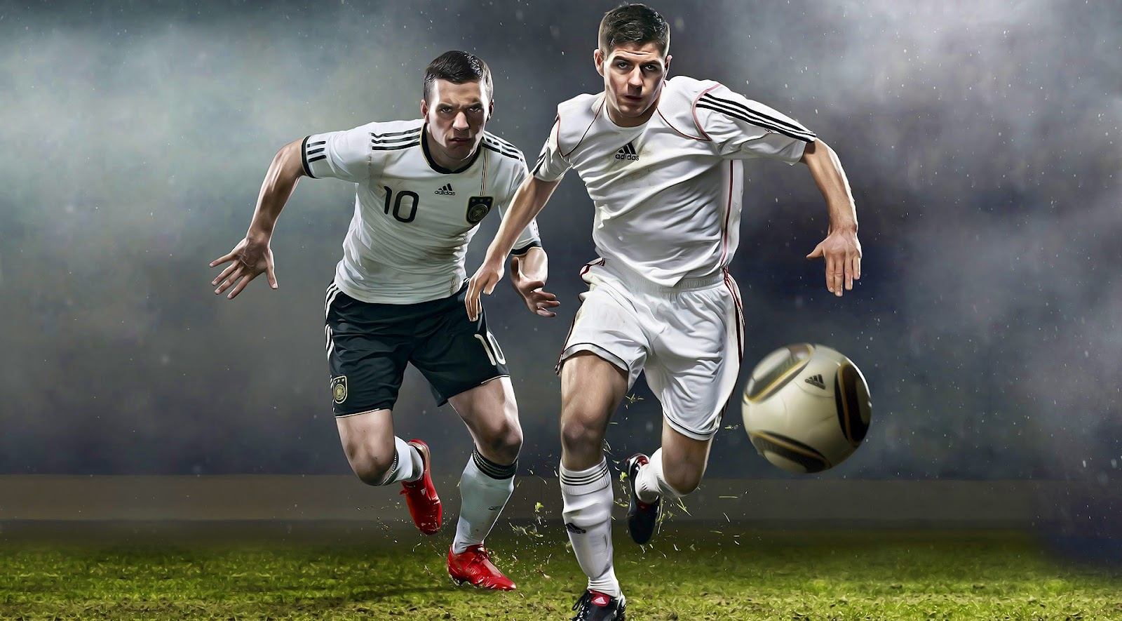 Soccer Football Wallpapers two soccer players soccerball Beautiful 1600x885