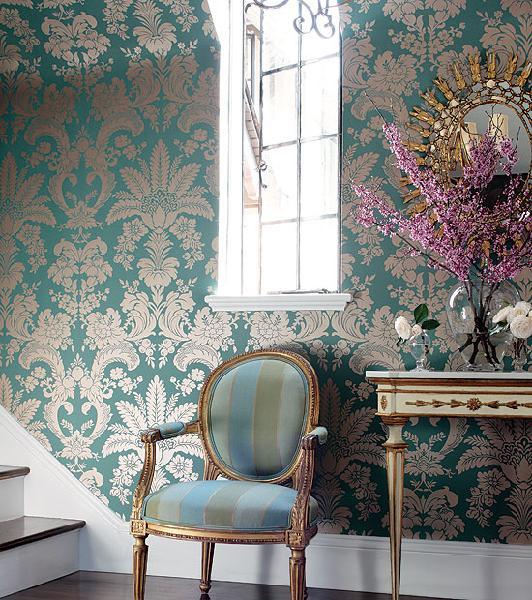 Metallic Wallpaper   French   entrancefoyer   Thibaut Design 532x600