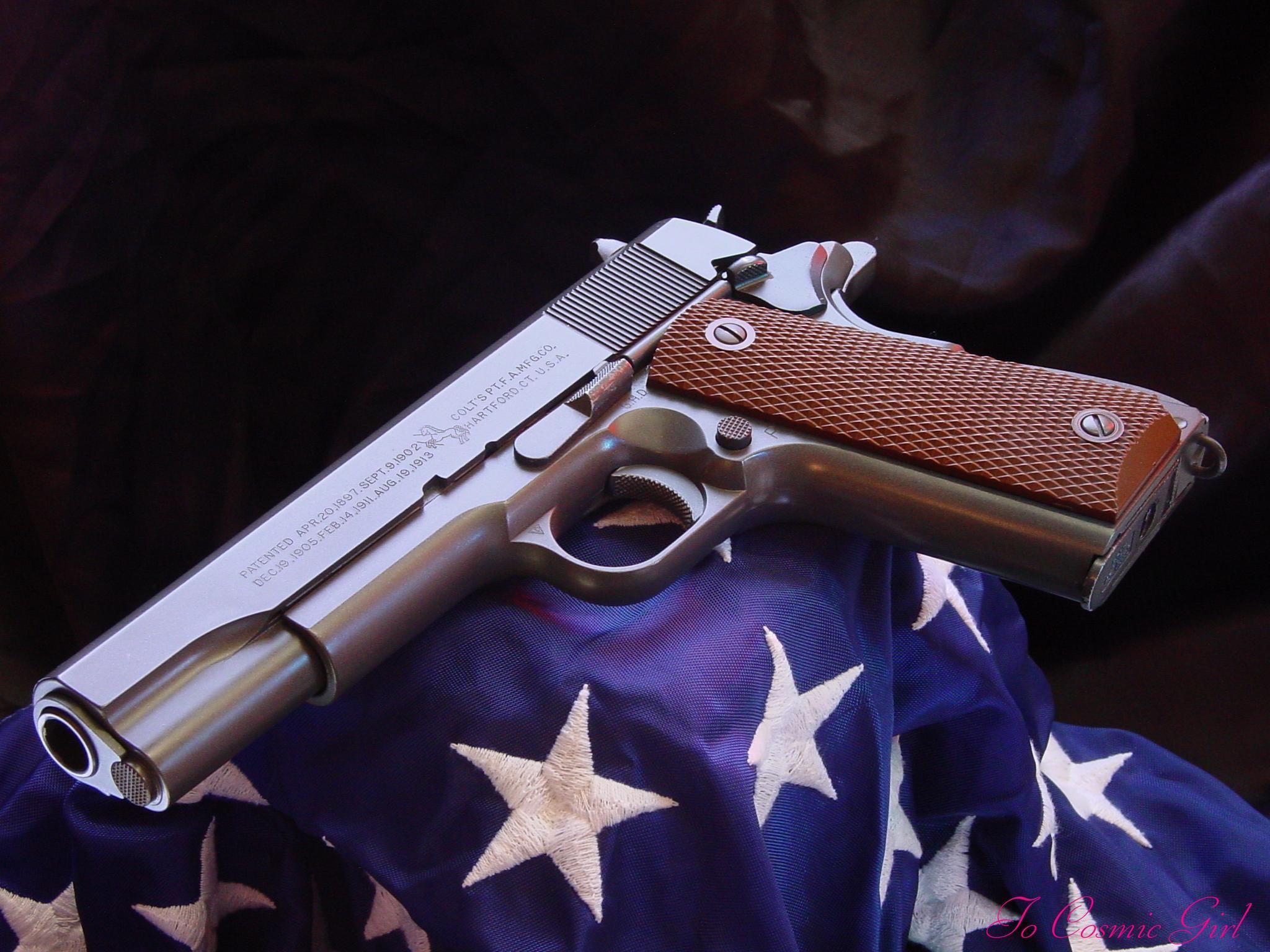 Guns weapons handguns colt 1911 wallpaper background 2048x1536