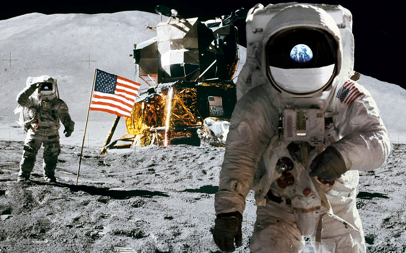 astronaut on the moon pictures - HD 1680×1050
