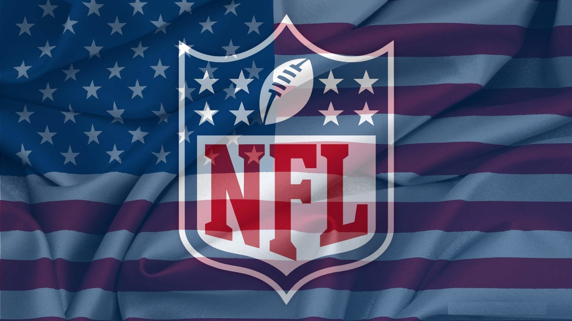 Nfl Official Logo On Usa Flag Wavy HD Wallpapers Desktop 1920x1080