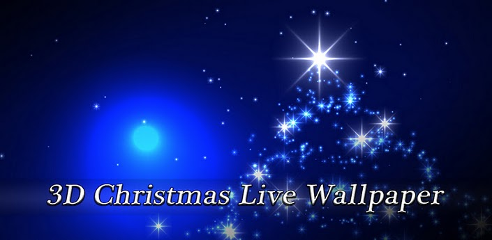 screen ready for the holidays with this 3D Christmas Live Wallpaper 705x345
