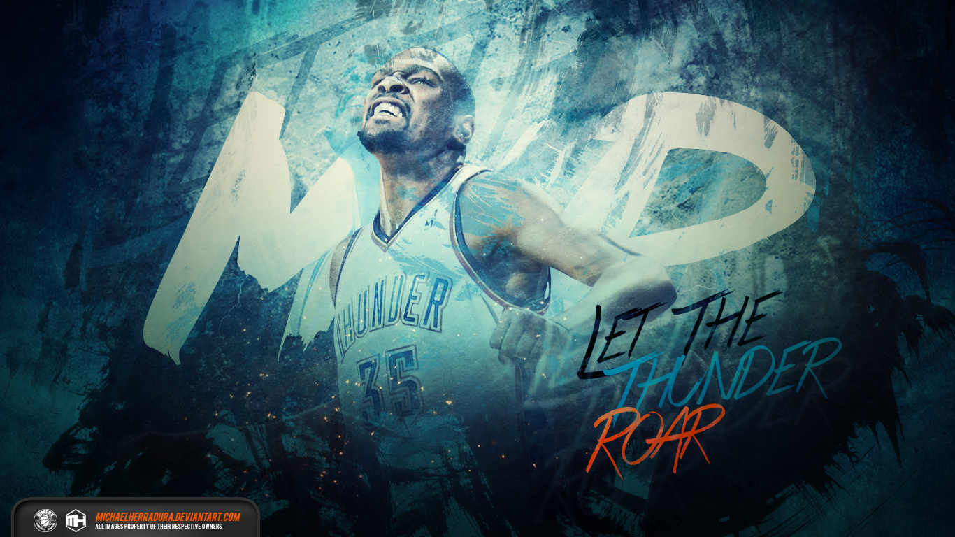 Kevin Durant MVP wallpaper by michaelherradura 1366x768