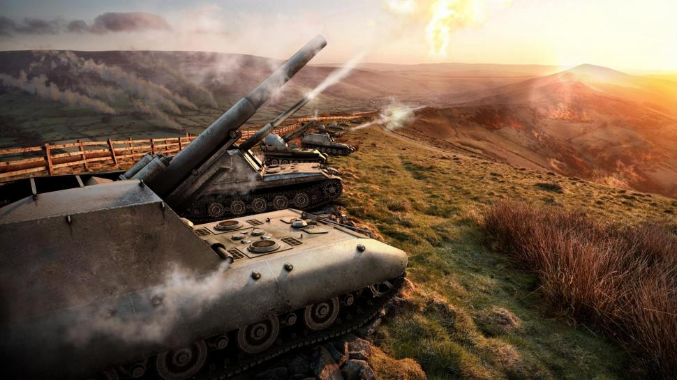 World of Tanks SPG Sky m4Games 3D Graphics wallpapers Collection 970x545