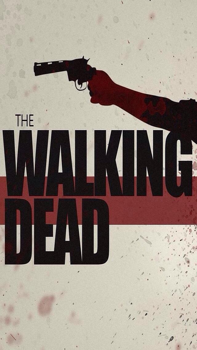 The Walking Dead Logo iPhone 5 Wallpaper 640x1136 640x1136