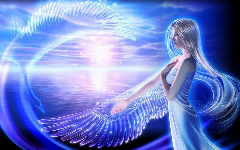 Fantasy Glow Angel Background Wallpapers Angel Background Wallpapers 1440x900