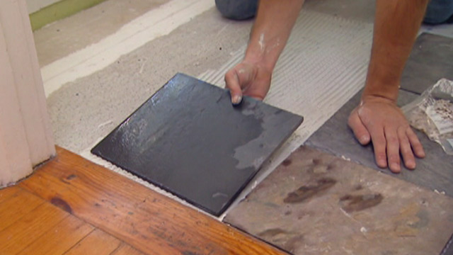Installing Tile Over Vinyl Flooring Todays Homeowner 640x360