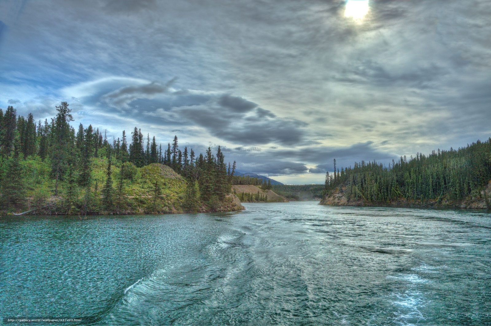 Download wallpaper yukon river canada Yukon River Canada 1600x1064