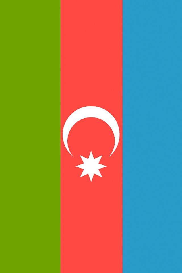 Azerbaijan Flag iPhone Wallpaper HD 640x960