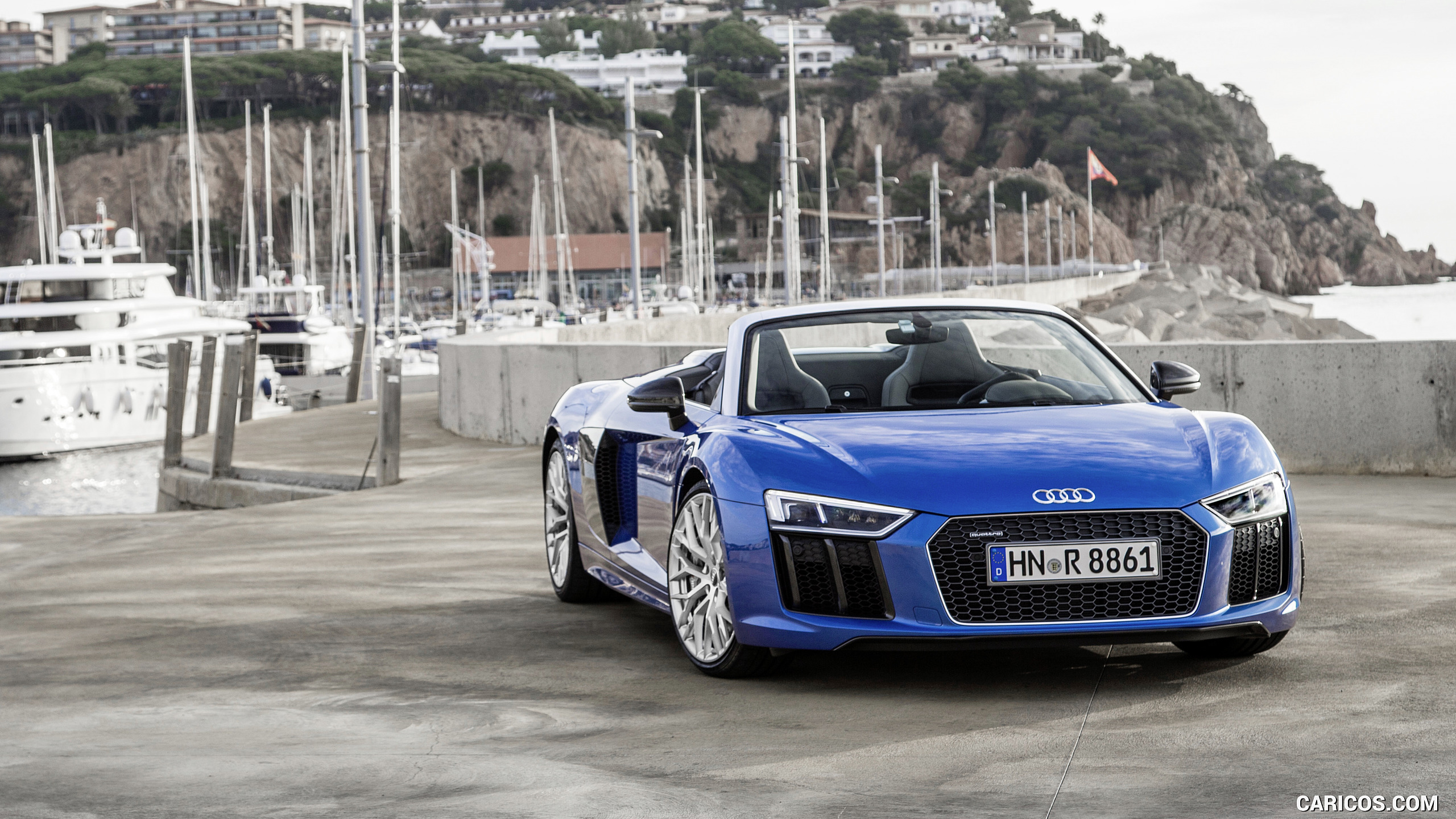 2017 Audi R8 V10 Spyder Color Ara Blue   Front HD Wallpaper 66 2560x1440