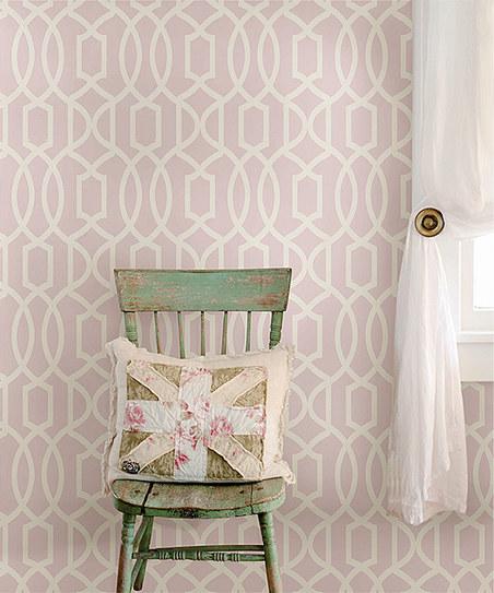 WallPops Pink Grand Trellis Wallpaper Decal Roll zulily 452x543