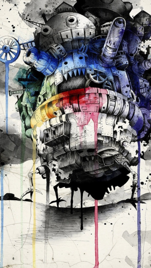 Howls Moving Castle IPhone 5 Wallpaper 640x1136 640x1136