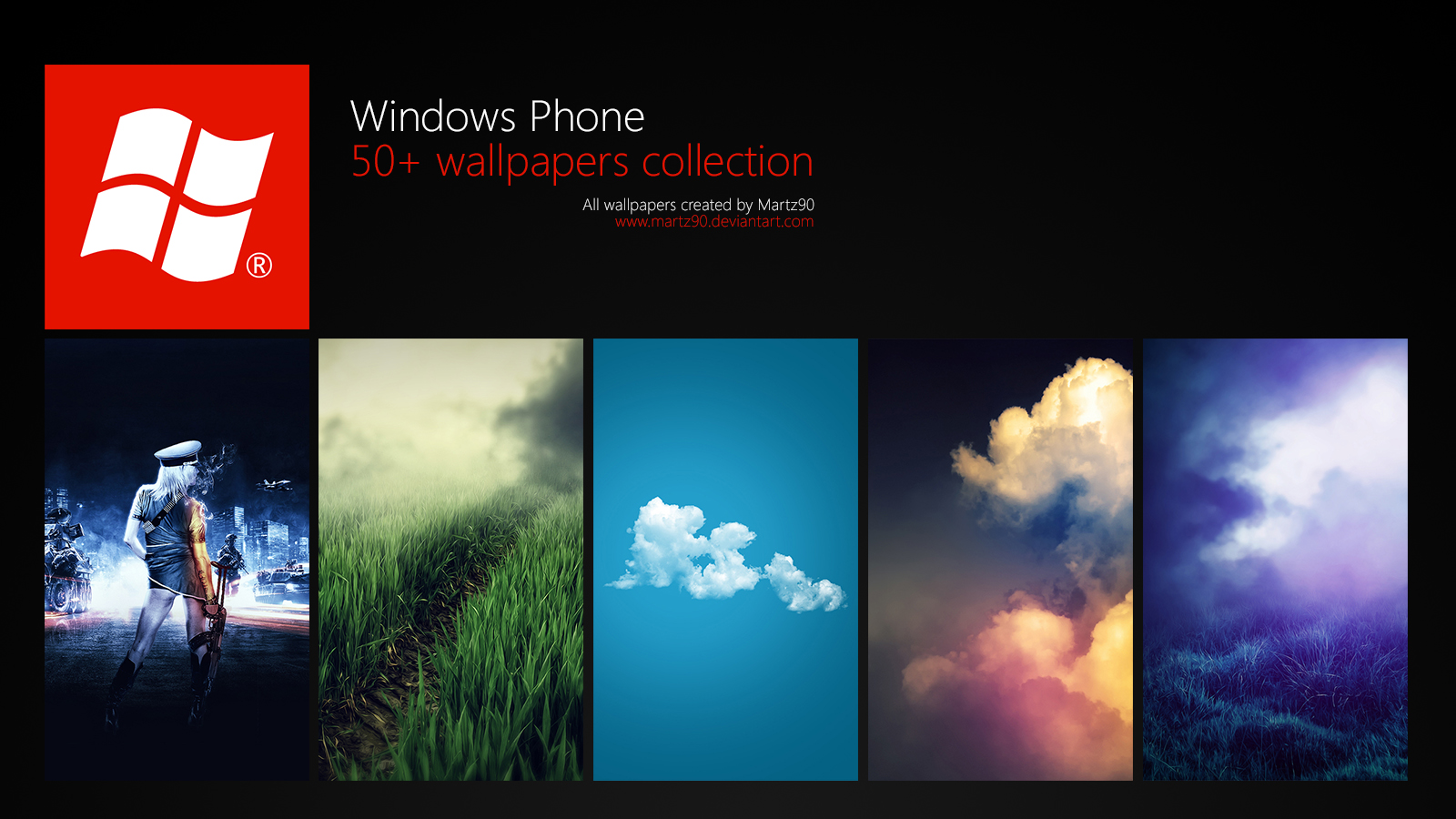 windows phone wallpapers collection by martz90 customization wallpaper 1600x900