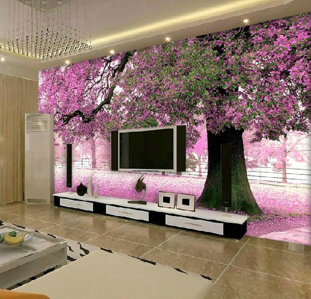 3D Mural Wallpaper Romantic Large Custom Modern Background Wall 607x584