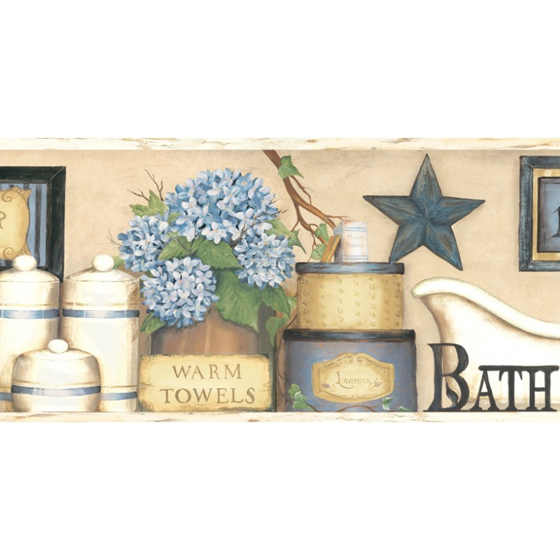 Country Bathroom Wallpaper Borders Image Of Bathroom And Closet