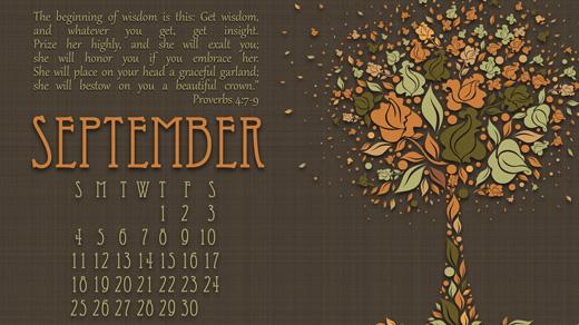Desktop iDevice Wallpaper for September InGodsImagecom 520x292