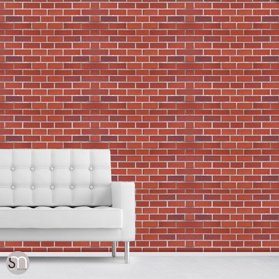 RED BRICK WALL   Self adhesive removable wallpaper by GraphicsMesh 570x570