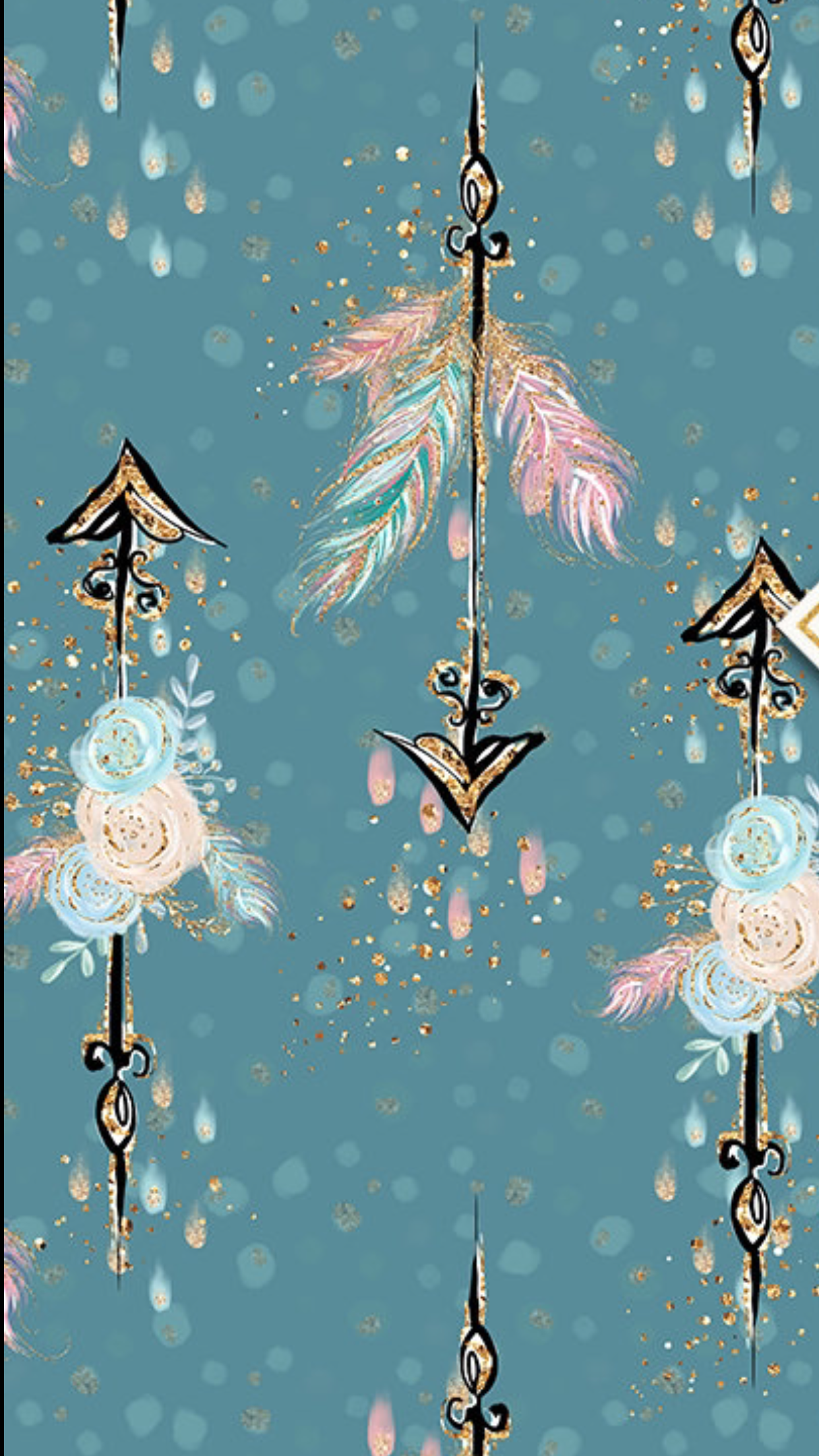 Arrow feathers flowers S P S Misc in 2019 Iphone wallpaper 1242x2208