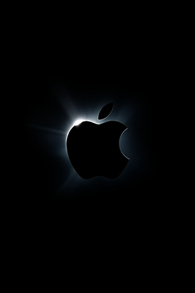Dark black apple wallpaper for iPhone 44s 640x960
