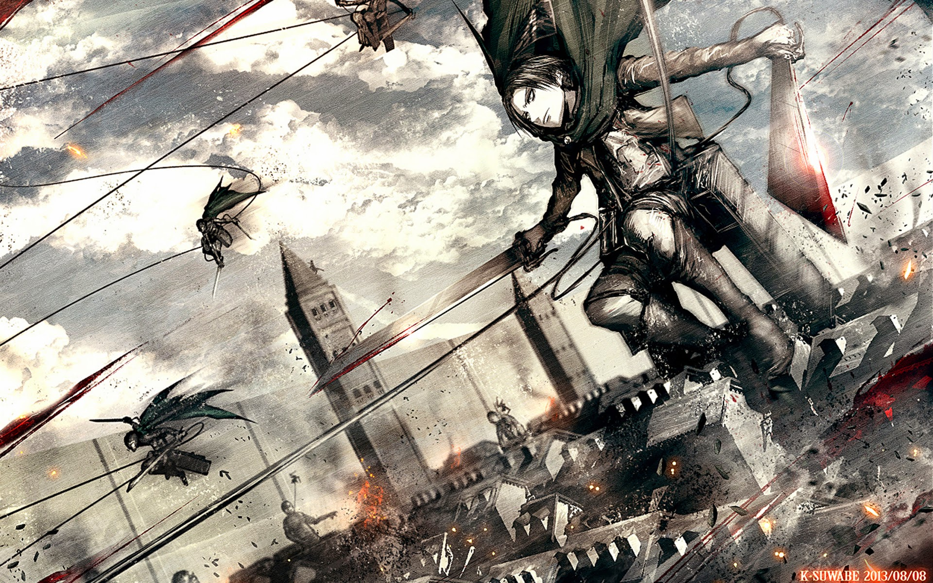 levi attack on titan wallpaper wallpapersafari