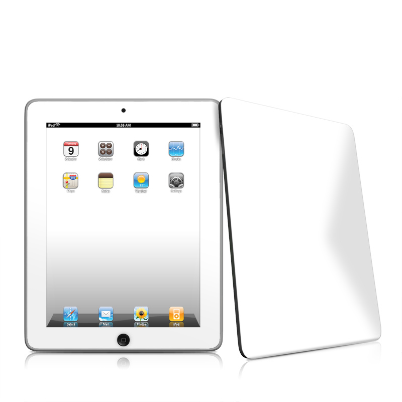 iPad iPad 2010 1st Gen Solid State White Apple iPad 1st Gen Skin 800x800