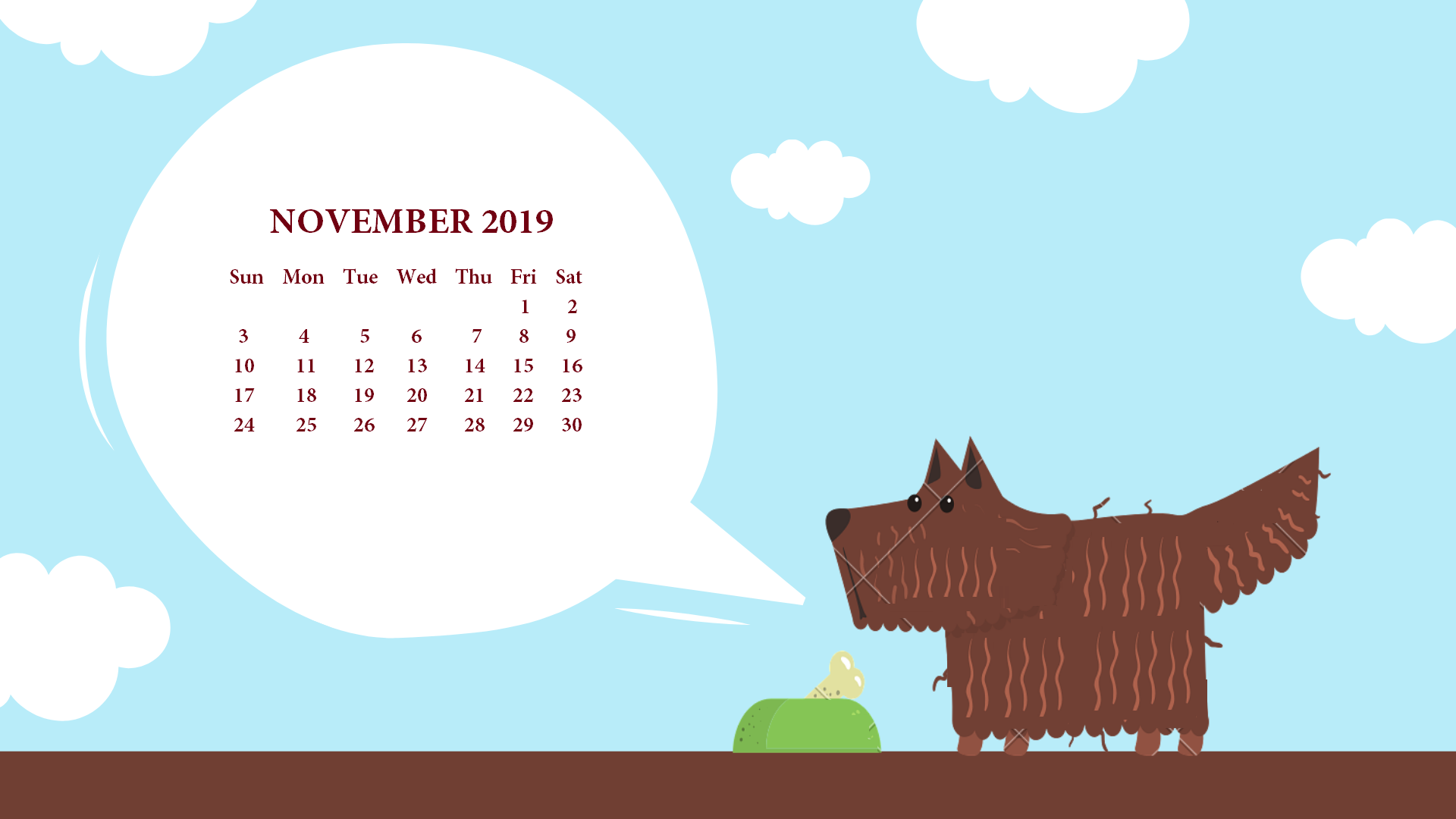 November 2019 Desktop Calendar Wallpaper November Calendars 1920x1080