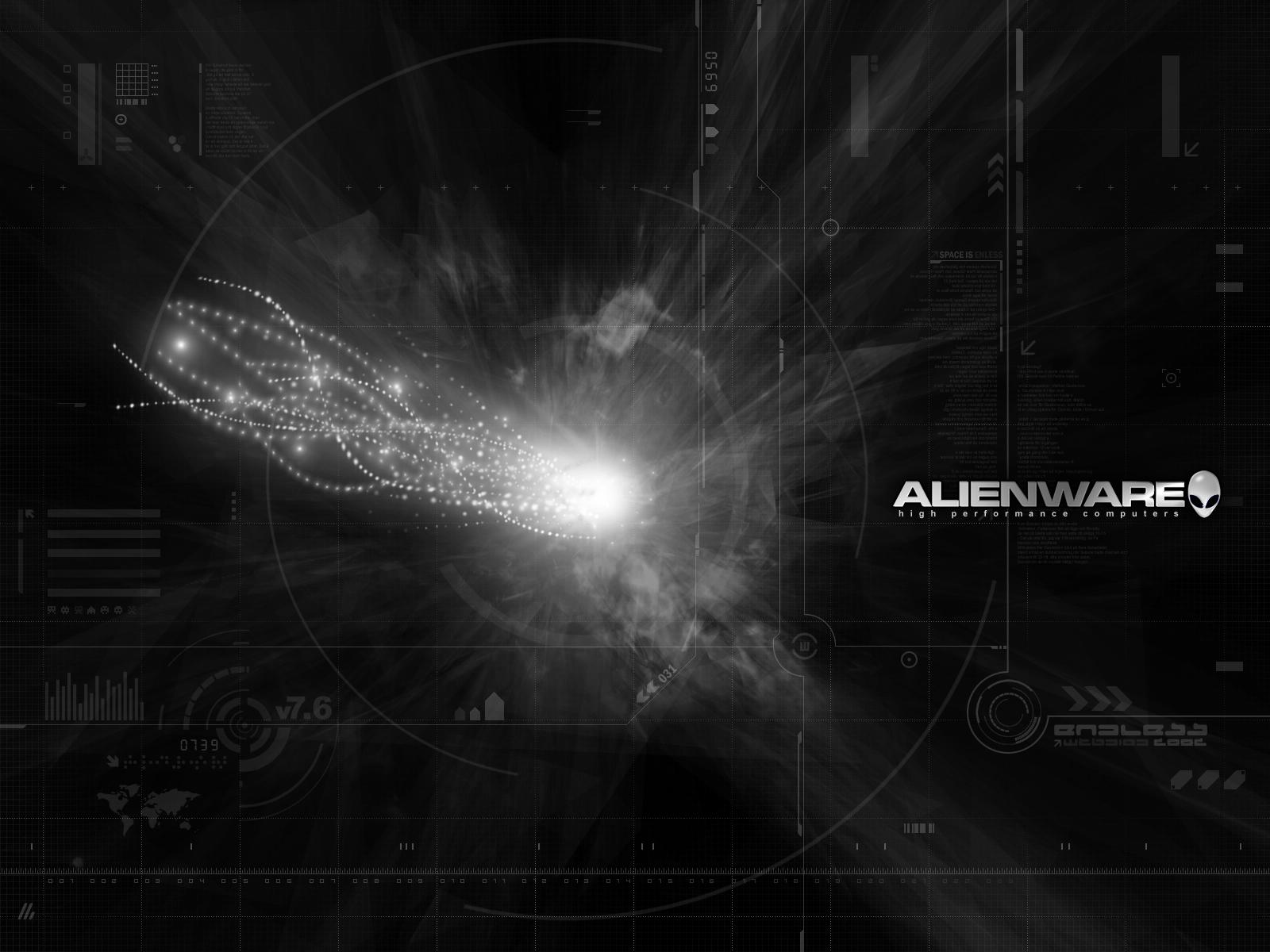 Alienware Grayscale Light desktop wallpaper WallpaperPixel 1600x1200