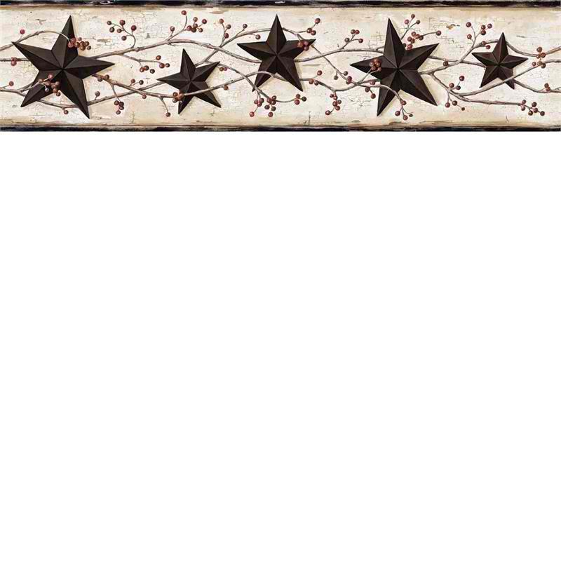 Black Heritage Tin Star Wallpaper Border 800x800