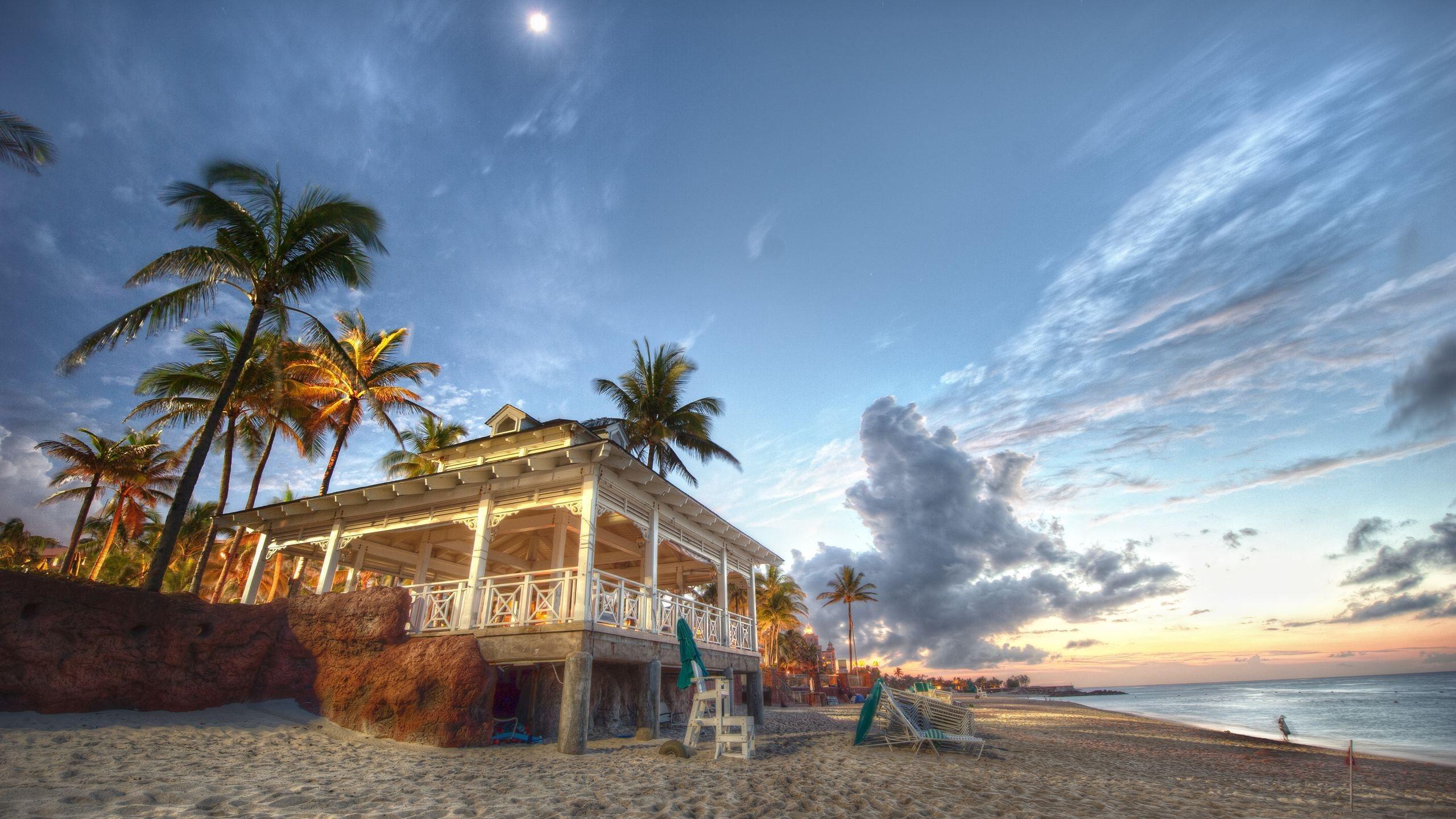 Nassau Bahamas Beach House HD Wallpaper Nature Wallpapers 2560x1440