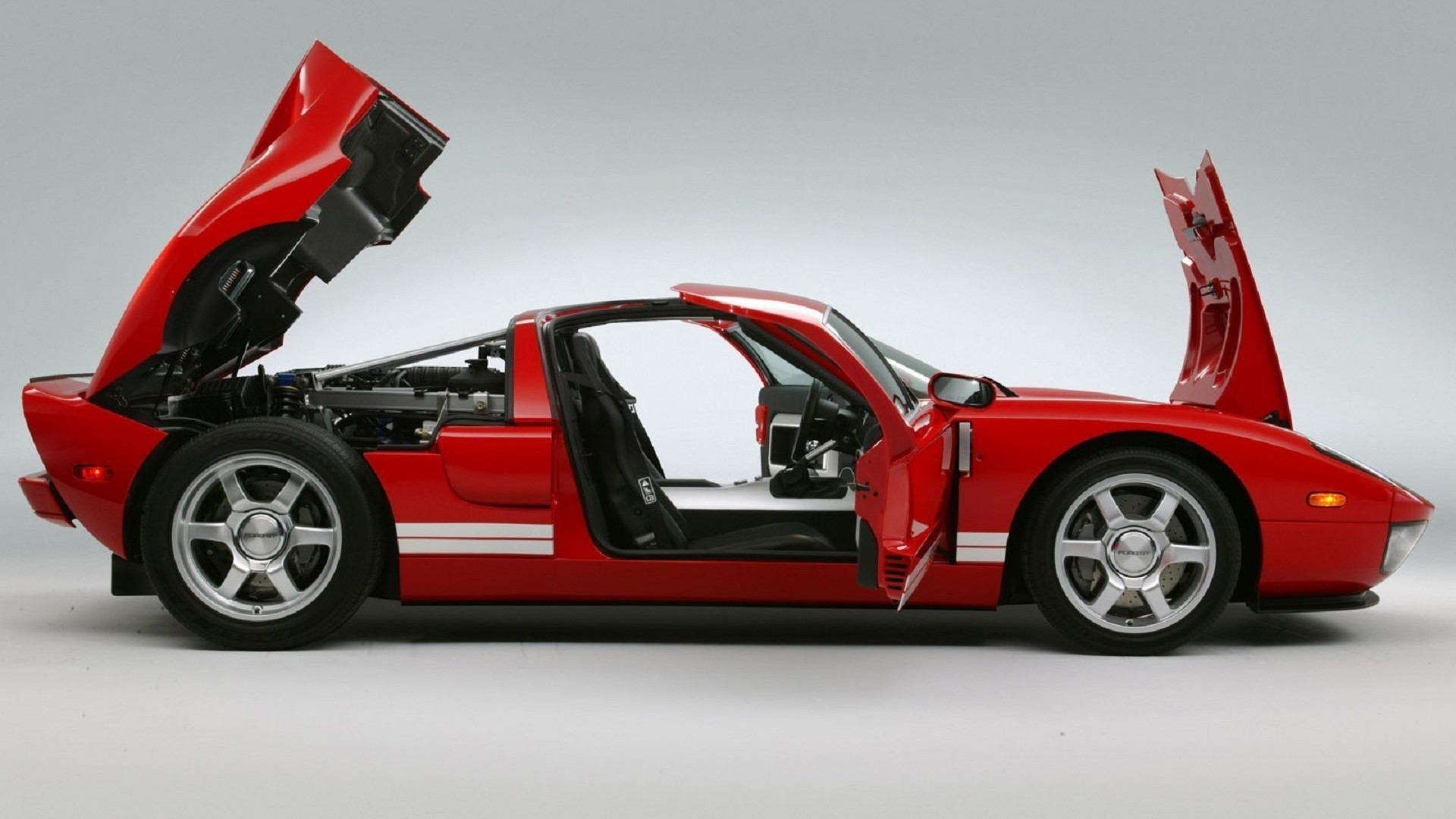 Wallpaper Ford gt Exotic Rare Supercar Red Cars Machines 1920x1080