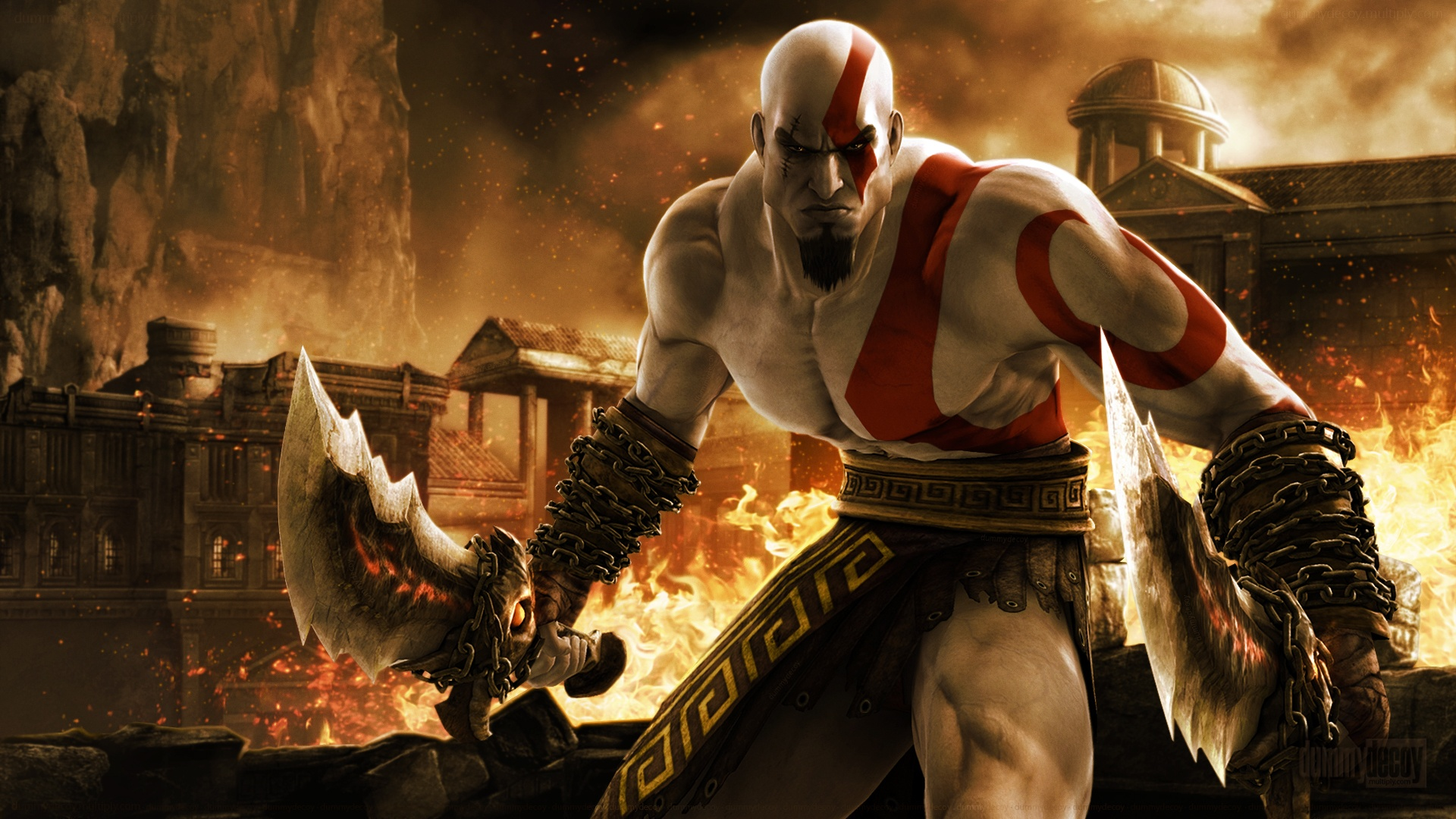 Free Download Kratos In God Of War Games Wallpaper Hd 1920x1080