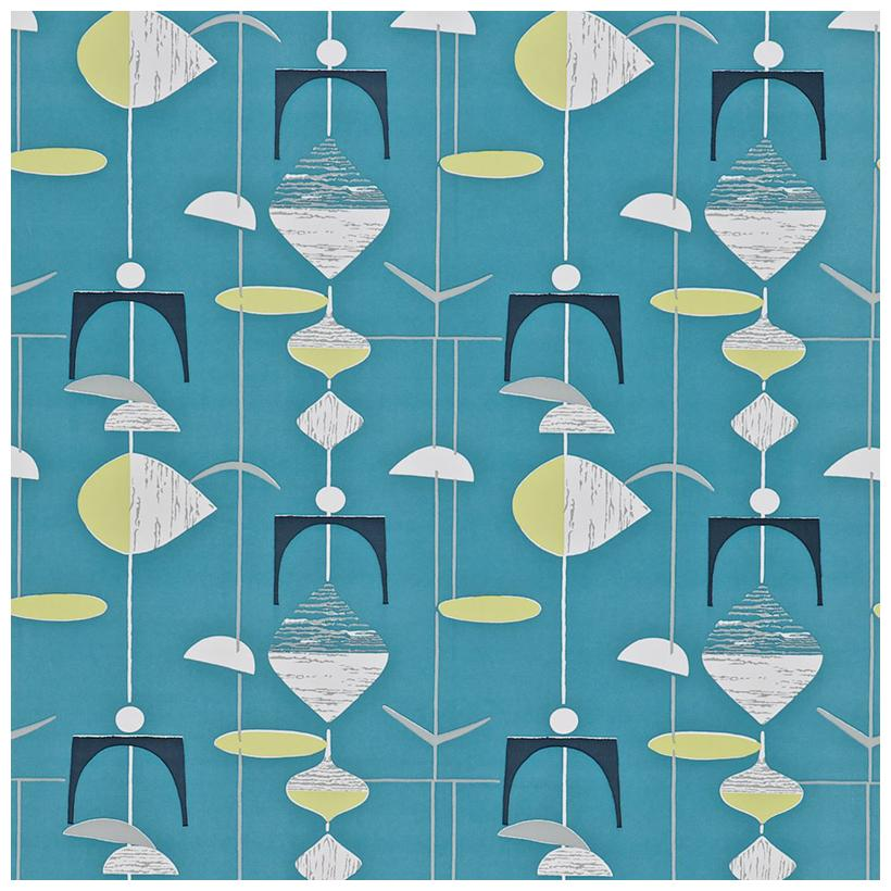 Slate Blue Lime wallpaper from the 50s collection priced per roll 820x820