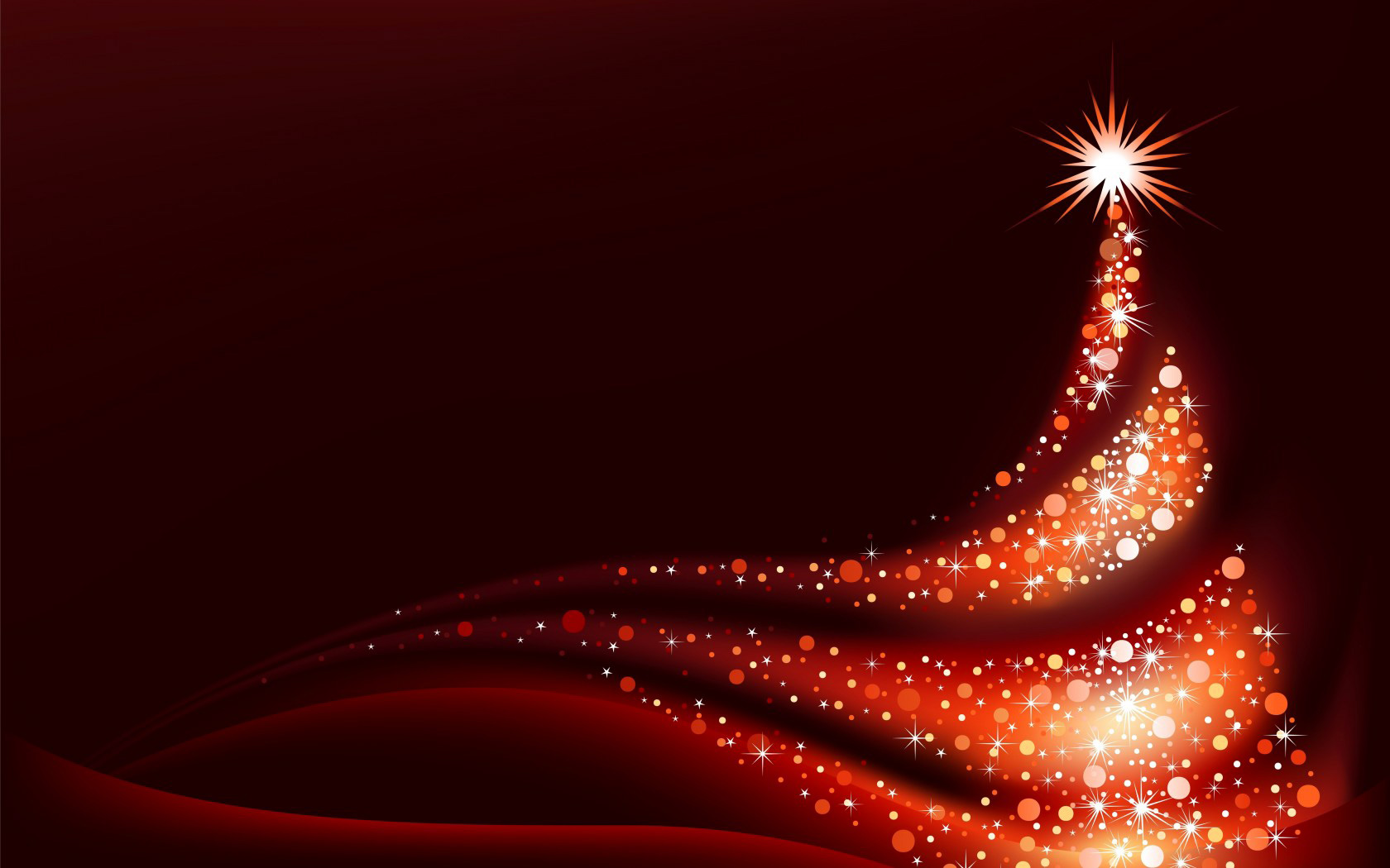 Red Christmas Background with Red Christmas Tree Gallery 1680x1050