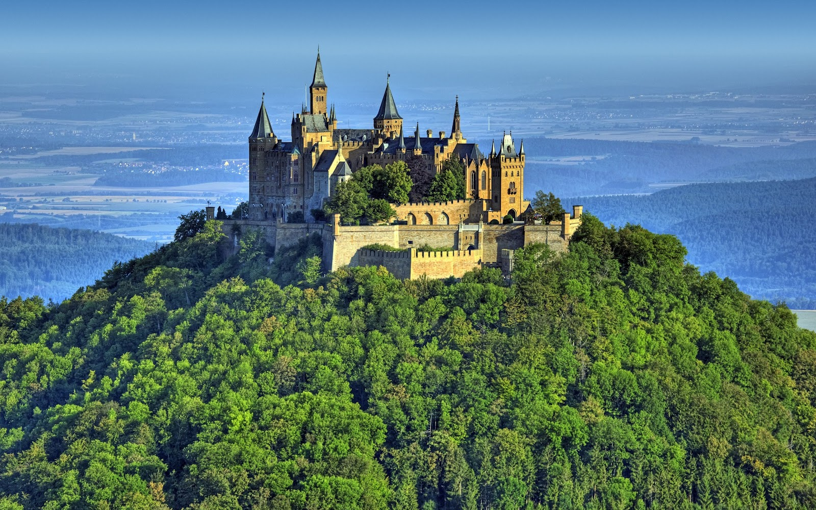 Castle on Mountain Awesome Landscape Germany Holiday Desktop Wallpaper 1600x1000