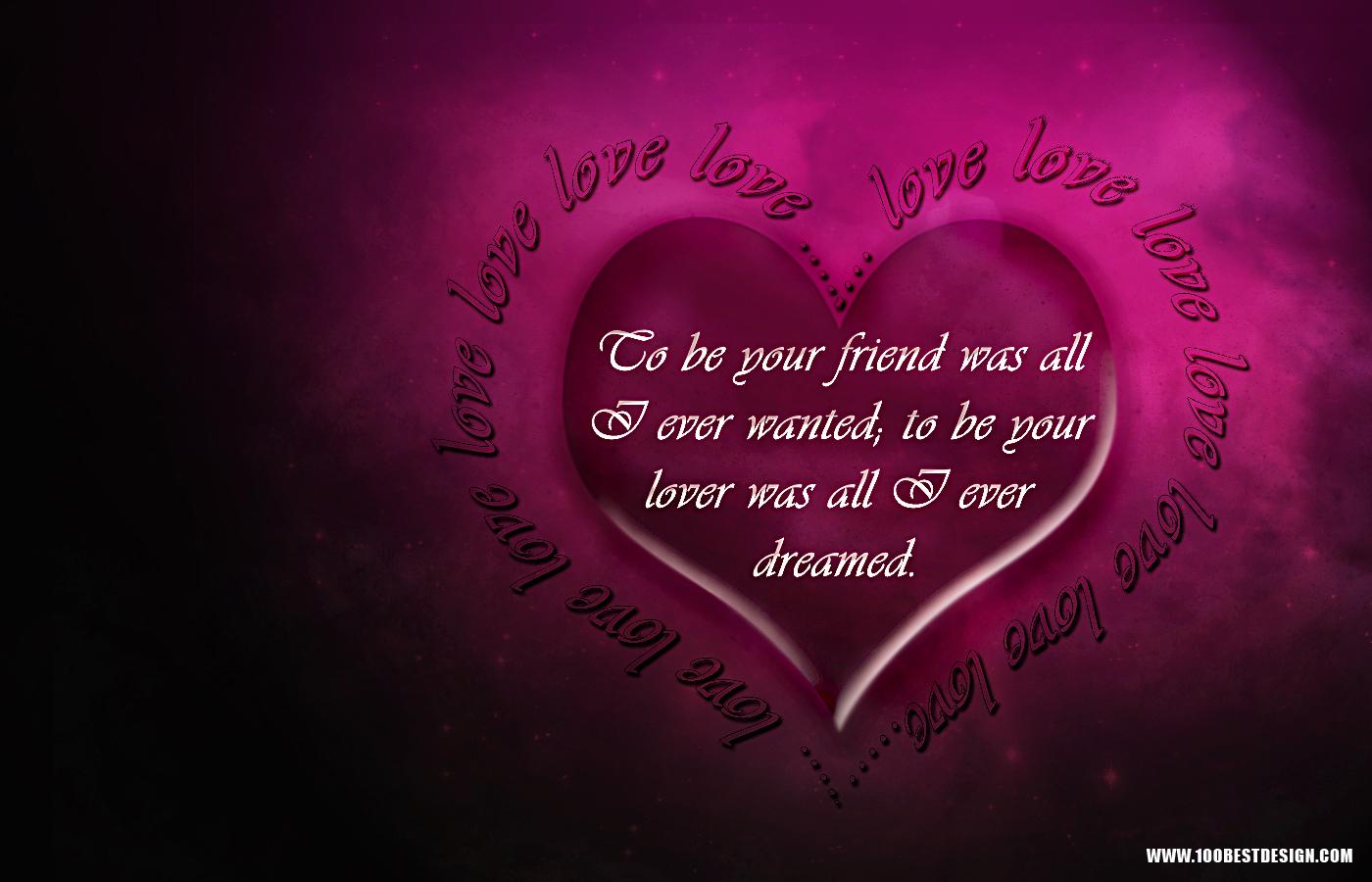 Valentines Day Love Quotes Wallpaper HD Deskto 17384 Wallpaper 1400x900