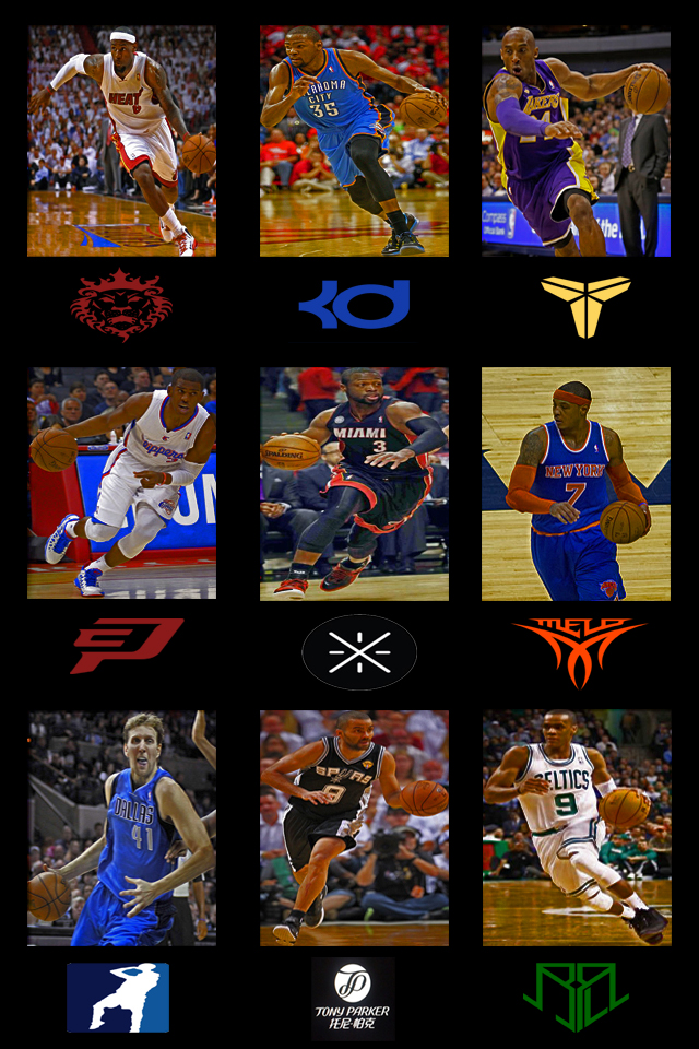 Nba stars iphone wallpaper by Cedierich 640x960