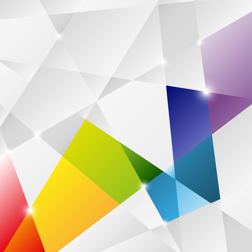 colorful shapes background created - photo #14