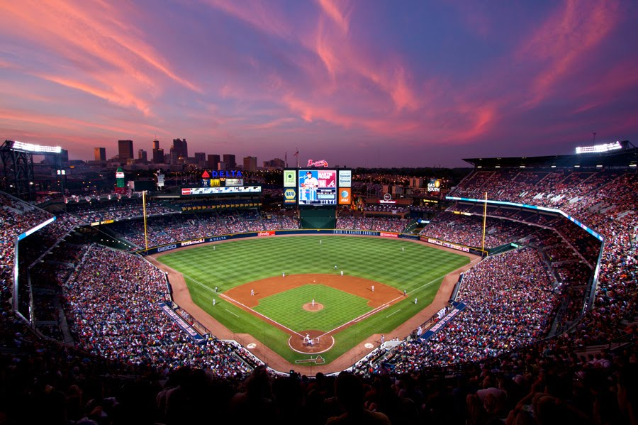download Sunset At Turner Field by RedFalcon821 [900x599] for 900x599