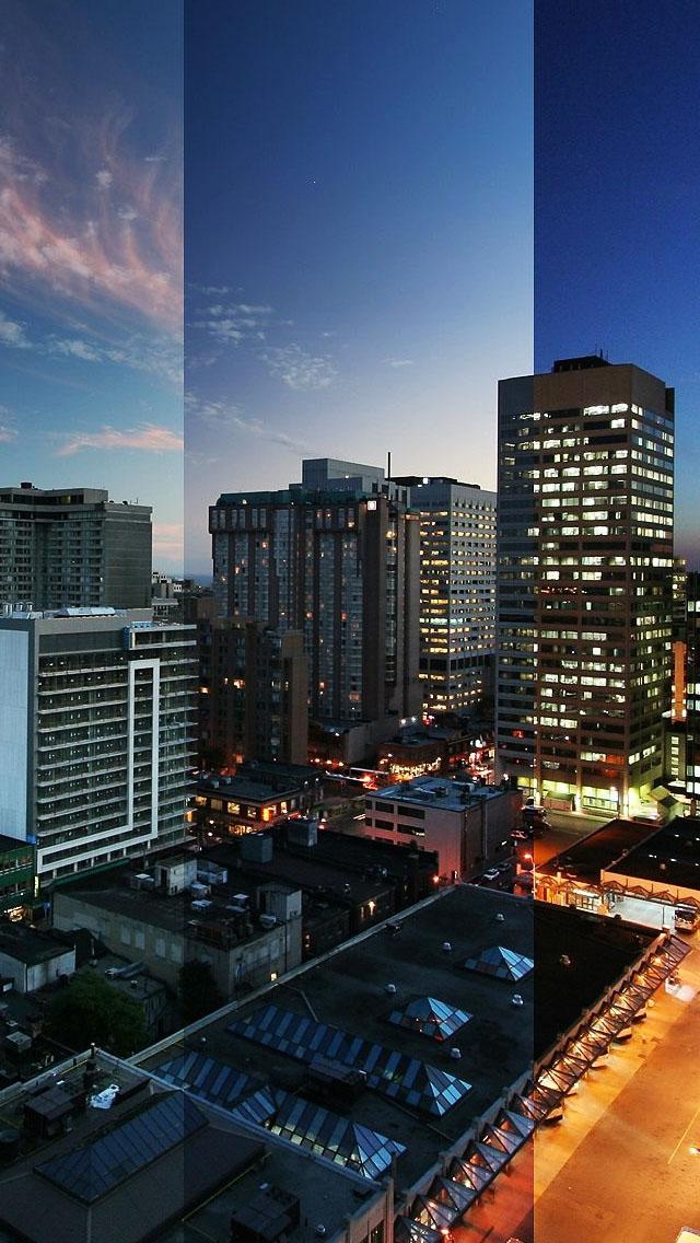 Toronto Canda Night Wallpaper   iPhone Wallpapers 640x1136