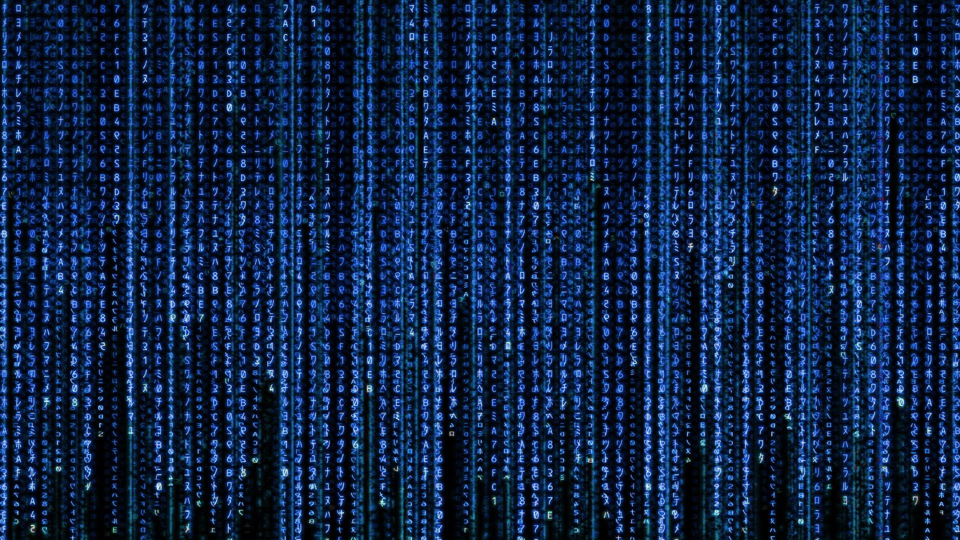 Blue Matrix Wallpaper Wallpapersafari