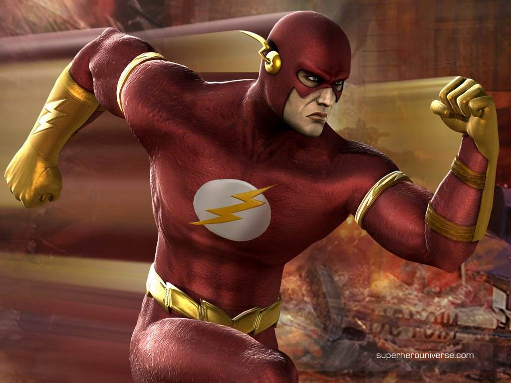 flash superhero wallpaper 1024x768